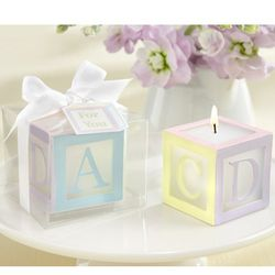 Baby Lettered Block Candles