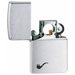 Brushed Chrome Zippo Pipe Lighter