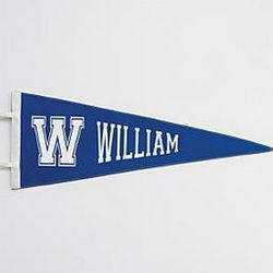 Old-School Navy Personalized Pennant