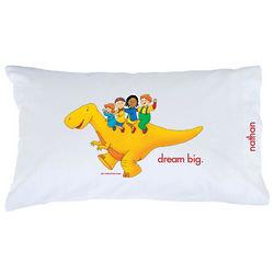 Caillou Dinosaur Ride Pillowcase