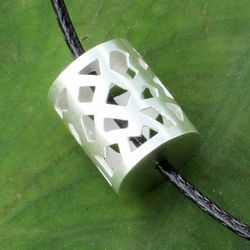 Men's Forest Shadow Sterling Silver Necklace