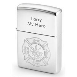 Firefighter's Personalized Zippo Lighter