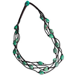 Nature's Earthly Treasure Tumbled Turquoise Necklace