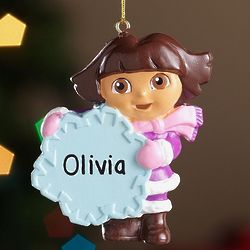 Personalized Dora Ornament