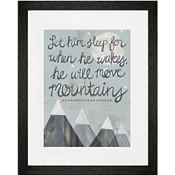 Child's Will Move Mountains Framed Wall Art
