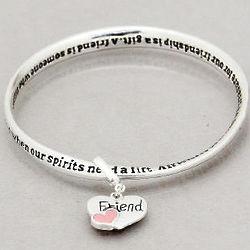Friend's Inspirational Twist Bangle Bracelet