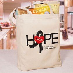 Personalized Melanoma Hope Awareness Tote Bag
