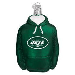 New York Jets Hand Blown Glass Hoodie Ornament