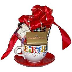 Starbucks And Hallmark Happy Birthday Mug Saucer Coffee Gift