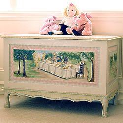 French Alice in Wonderland Toy Chest