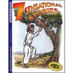 7 Sensational Stories Intermediate Coloring Book