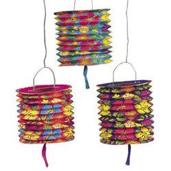 Hibiscus Pattern Paper Lanterns