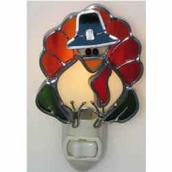 Turkey Night Light in Stained Glass
