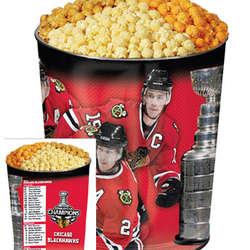Chicago Blackhawks Commemorative 3-Way Popcorn Tin