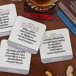 Famous Quotes Personalized Coaster Set