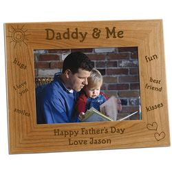 Daddy and Me Personalized Photo Frame