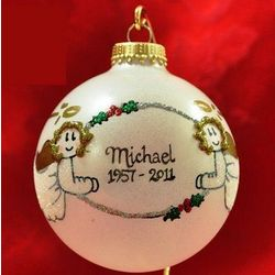 Personalized Memorial Angels Ornament
