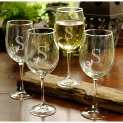 Personalized White Wine Glass Set