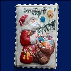 Santa with Ornaments Springerle Cookie