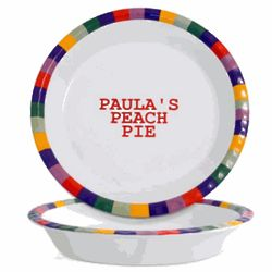 Personalized Sonoma Pie Plate