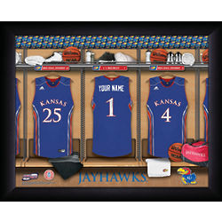 Personalized Kansas Jayhawks Basketball Locker Room Print