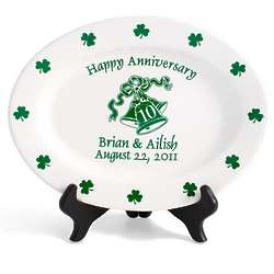 Personalized Irish Anniversary Plate
