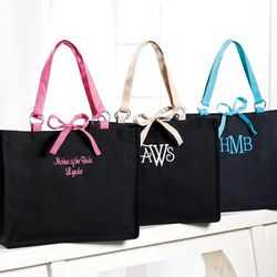 Black and Colored Canvas Tote