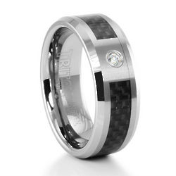 Brockton Tungsten and Carbon Fiber Ring