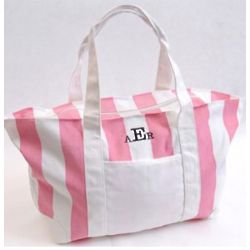 Personalized Candy Striped Tote Bag