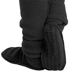 Large Black Janska MocSocks Booties
