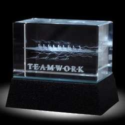 Teamwork Rowers 3D Crystal Award