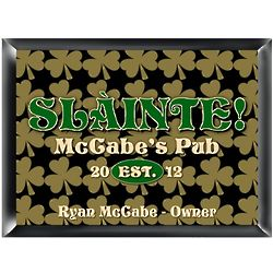 Personalized Field of Clover Pub and Bar Sign