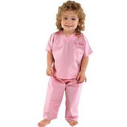 Personalized Pink Baby Scrubs
