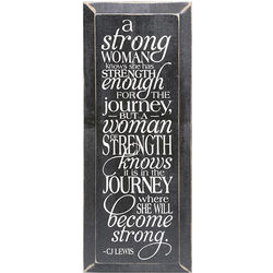 Strong Woman Wood Plaque