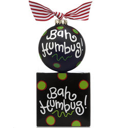 Personalized Bah Humbug Christmas Ornament