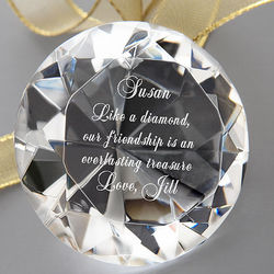 Personalized Everlasting Treasure Diamond Crystal