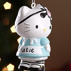 Personalized Hello Kitty Pirate Ornament