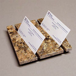 Split Personality Granite Business Card Holder
