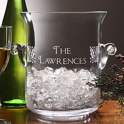 Personalized Holiday Cheer Engraved Ice Bucket & Chiller