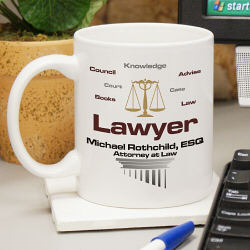 Personalized Lawyer Coffee Mug
