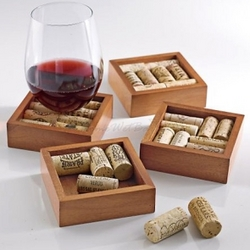 Wine Cork Drink Coasters Kit