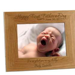 First Father's Day Personalized 5x7 Photo Frame