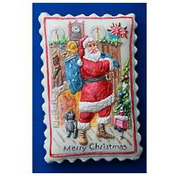 Santa Claus with Presents Springerle Cookie