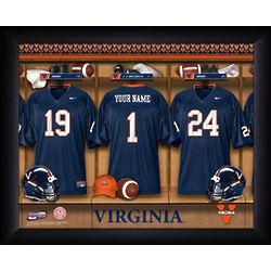 Personalized Virginia Cavaliers Football Locker Room Print