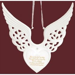 Memorial Winged Heart Ornament