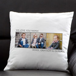 Picture Perfect Personalized Three-Photo Pillow