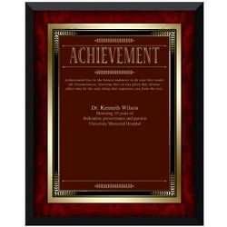 Rosewood Achievement Award Plaque