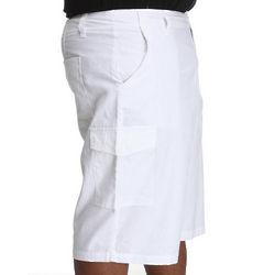 Men's White Break Into Spring Linen Shorts