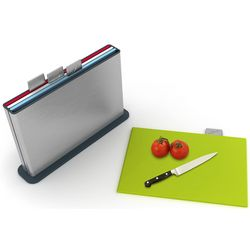 Stainless Steel Index Cutting Board Set