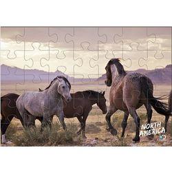 North America Wild Horses 60-Piece Puzzle